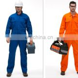 Navy blue polyester/cotton factory fireproof industrial uniform clothing, work clothes