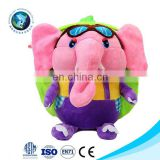 Kids Custom Elephant Plush Backpack Baby Travel Bags Soft Stuffed Animal Bag
