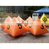 inflatable float buoy in pyramid shape for water sports marker