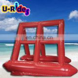 Red color Commerical use portable Inflatable water billboard by boat
