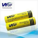 Brand name WGP 18650 Lithium ion cylindrical rechargeable battery cell 3.7v voltage for small flashlight