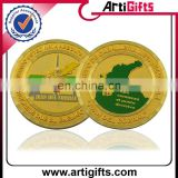 Cheap promotional metal custom fake gold coins