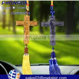 cheap fashion religious cross car hanging,Santa car hanging