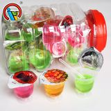 New Assorted Fruity Flavors Liquid Jam Cup Candy