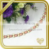 Garment,Shoes,Bags Use and Crystal Resin Material Chain Trimming, Gold Plating AB Crystal Rhinestone FC-617