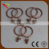 Hot sale metal pinch clip curtain ring antique copper color