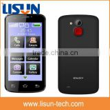 4 inch touch screen GSM WCDMA wifi GPS android mobile phone with SOS button senior phone