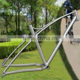 Newest model 142*12 thru axle 26erX4.8 tires China mtb titanium alloy frame with twin top tube