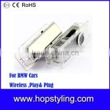 wireless car door light for BMW E84 F01N/F02N/F03N F20 F30 play and plug car welcome ghost shadow light