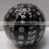 High quality best selling eco friendly Black mother of pearl round decor ball from Vietnam
