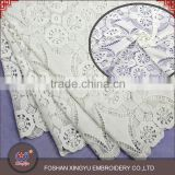 Sale high quality factory water soluble micro fiber polyester Chemical lace fabric decoration for wedding dress, apparel