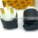 Upgrade Design Super Tough Nylon UL Listed nema 6-15p/nema 6-15 plug/nema 6-15p industrial male plug