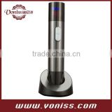 High tech Cordless Rechargeable Electric Wine Opener in Stainless-Steel,with Infrared Wine Thermometer and Digital LCD