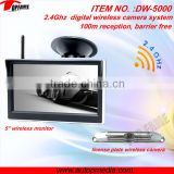 DW-5000 digital wireless rearview system 5inch digital LCD monitor, strong/stable signal, protect your privacy