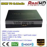 2016 China Top Great Sales HDMI RCA Converter HDMI To HDMI/RCA/SPDIF Converter With 5.1 Audio