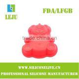fancy bear shape silicone soap molds