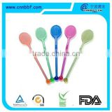 Bat shape plastic wine stirrers