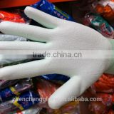 high quality green PU coated gloves/anti-static /electronic components work
