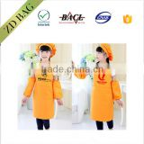 new fashion style fireproof kids suit apron with hat