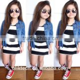 2015 autumn fashion design girls fancy jeans coat for 2-8 years old girls