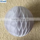 Wholesale White Color Tissue Paper Craft Honeycomb Ball For Wedding Party Decorations Kids Baby Shower