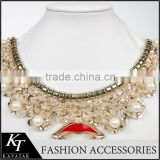 2015 Big Red Lips Metal Chain Trim For Party Dress