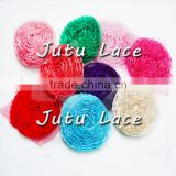 Wholesale colorful chiffon shabby flower elegant bridal hair accessories rose flower