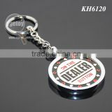 High Quality Zinc Alloy Metal Casino Chips Custom Engraved Enamel Personalized Poker Chip Keyring
