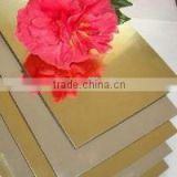 2015 new factory facade interior decorative wall material 3mm PE golden silver mirror aluminum composite panels ACP