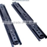 40mm Cold rolled steel furniture rail 3-fold push to open ball bearing drawer slide                                                                                                         Supplier's Choice