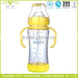 Baby Glass Feeding Bottle Baby Nursing Bottle With Handle 260ML
