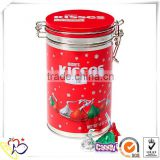 air-tight coffee tin can with metal clip manufacturer/decorative coffee tin cans