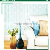 stock heavy embossed pvc coated wallpaper, light blue neat vertical stripe wall mural for household , fabulous wall sticker