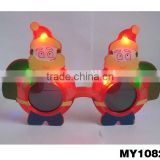 Santa clause led sunglasses Christmas funny sunglasses with light flashing sunglasses for Christmas