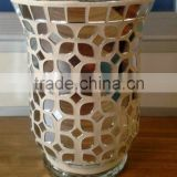 crackle mosaic hurricane glass candle holder tealight holder                                                                                                         Supplier's Choice