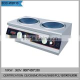 industrial tabletop 2 burner electric cooker stove