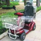 Newest electric mobility scooter with metal shopping cart with CE certificate DL24500-3S from China