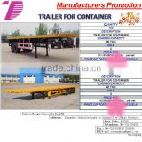 DTA 2/3 Axle 20/30 /40/45ft container semi trailer ,flat bed semi trailer container chassis OEM TRAILER FOR CONTAINER
