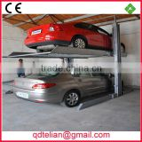 Portable double post two levels parking system,underground garage 2 ply carport parking lift