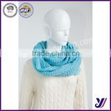 new arrival flora prints knitted neck warmer circle scarf infinity knit pashmina scarf factory sales (Can be customized)