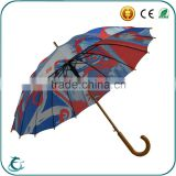 2016 new design wood shaft 16K straight umbrellas