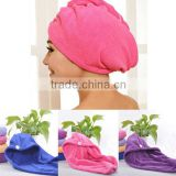 Hair Drying Towel Double Side Coral Fleece Dry Hair Hat