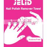 The Most Popular Wet Wipe Coming!Nail Remover Pad From CE FDA Certificates From Powerclean