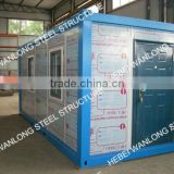 20ft high quality eps sandwich panel container house with galvanized and painted steel frame