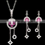 Diamond Made in China AAA CZ Earring Jewellery Wholesale Tassel Silk Tassels for Jewelry Set