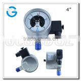 High quality 4 inch all stainless steel bottom connection electric switch pressure meter