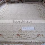 handmade wool & silk art handcraft carpet luxury art wool & silk rug guangzhou whosale wool&silk carpet