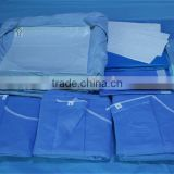 High quality disposable nonwoven EO sterilize Hip surgical drape pack/kits