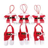 6pcs/lot Christmas Household Table Decorations Christmas Clothes Knives and Forks Pockets Cutlery Set Silverware Holders