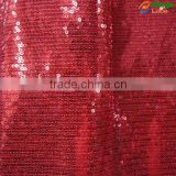 2015 new product colorful high quality velvet cotton knitted fabric with embroidery mesh sequin designs